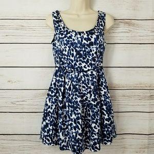 F21| Studded Cheetah Print Mini Dress Zipper Back